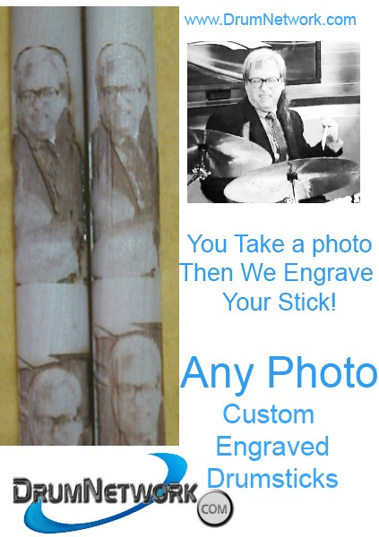 Custom Engraved Drumsticks Personalize